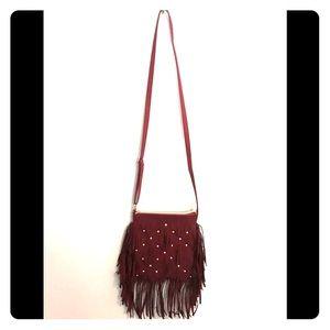 Justice girls fringe crossbody purse